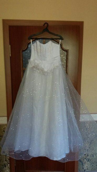 Свадебное платье чисто белого цвета. в Бишкек