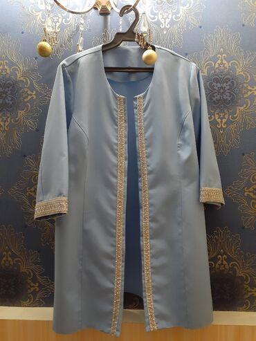вечерние платья 50 размера в Кыргызстан: Продается Голубое вечернее платье, размер 50-52