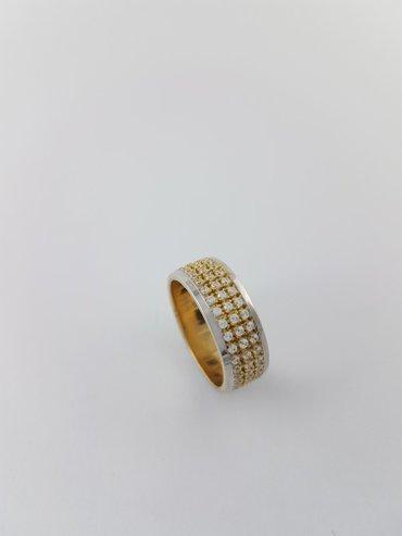 Кольцо из белого и жёлтого золота 585 проба. размер кольца17. 5 в Бишкек