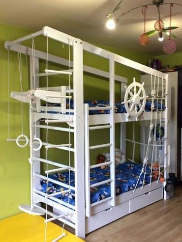Двухъярусный кровать +спортивный в Кок-Ой