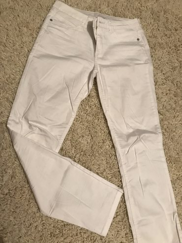 Street One bele pantalone, malo izguzvane ali nove skroz L velicina, - Novi Sad