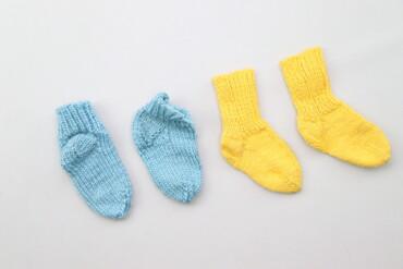 Набір в'язаних дитячих шкарпеток (2 пари)    Довжина стопи: 10 см  Ста