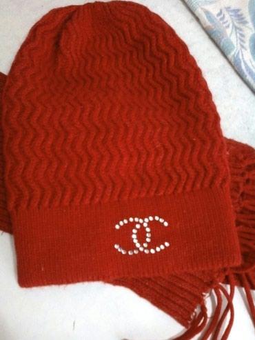 Продаю для девочки: шапка + шарф. 150 сом Токмак, микр. в Токмак