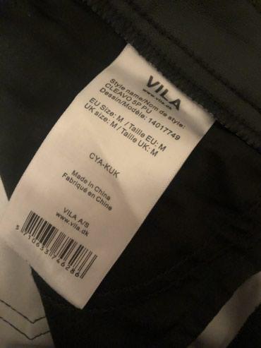 Женская одежда в Баетов: Хит сезона!Продаю кожанные брюки б/у от бренда VILA,размер М