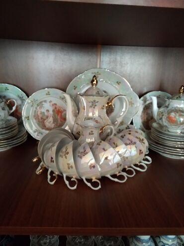 12 nəfərlik çay dəsti 60 ilin antik malıdır işlənməyib təzədi temiz