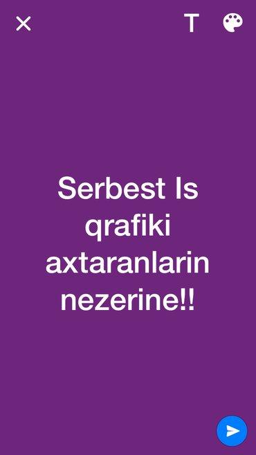 Bakı şəhərində Serbest is qrafiki axtaranlarinn nezerine bukletlerin paylanmasina