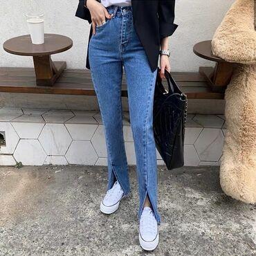 Стильные джинсы с вырезом   Размер: S, M, L Цена: 1800 сом