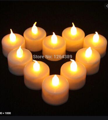 Реалистичная беспламенная Светодиодная свеча на батарейках 12шт