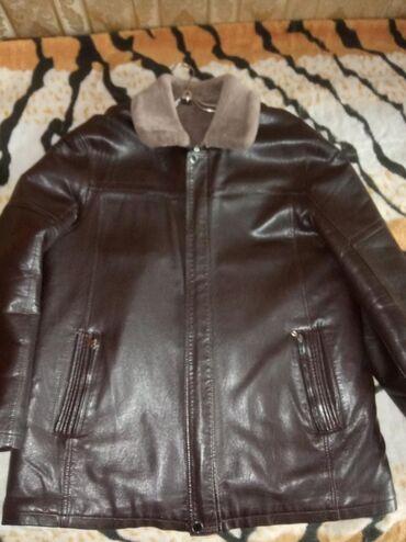 Мужская куртка зимняя,большой размер,коричневого цвета,недорого1000сом