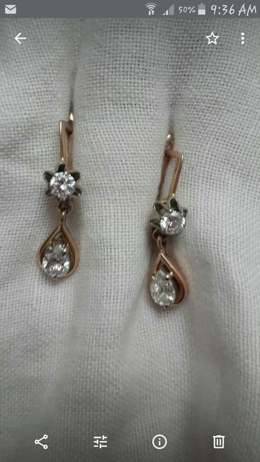 Продаю стариные бриллиантовые серьги Якутские камни в Бишкек