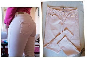 Zara nove premium model, L vel, sa elastinom, cvrst teksas, nisu