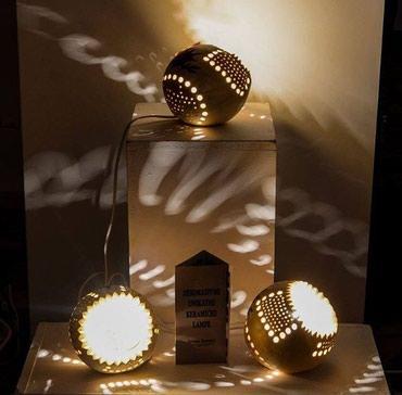 Rasveta | Mladenovac: Unikatna, dekorativna keramicka lampa. Rucni rad.Sve tri lampe su