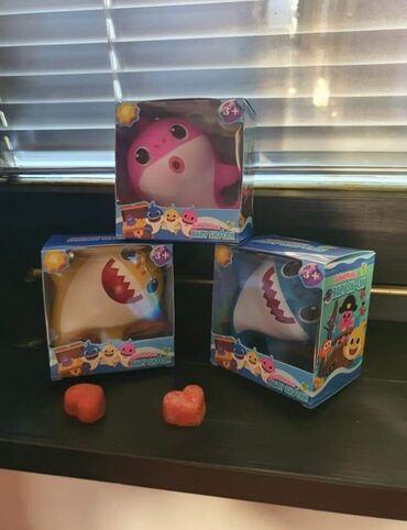 Paul shark - Srbija: Gumene Bebe ajkule  Decije igračke Baby shark prtisikom na dugme koje