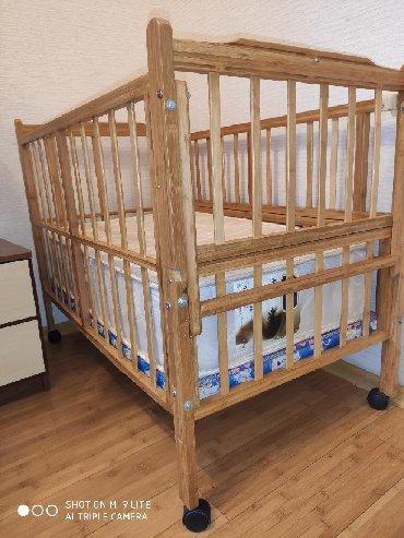 детские кроватки дешево в Кыргызстан: Детская кроватка ортопедический матрас фирмы Лина