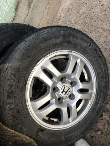Продаю Шины с дисками 205/70R15  на Хонда CR-V  В хорошем состоянии