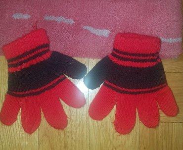 Decije rukavice crveno crne. Mislim da ih nikad nismo nosili.. Mozda 1 - Beograd