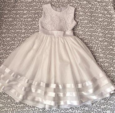 Нарядный новогодний комплект для девочки: платье на 5-6 лет + туфли 30 в Бишкек