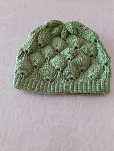 Распродажа детских шапок зима- осень! На 7-8 лет. Цвета - зеленый