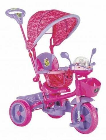 Tricikli - Srbija: Tricikl za decu Play pink - zvučni i svetlostni efektiCena: 6.600 din