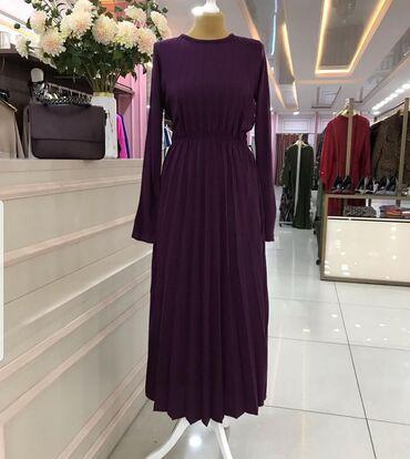 длинные платья из турции в Кыргызстан: Фиолетовое Платье 1500 (размер стандарт)Черно-белое платье 3000 (38