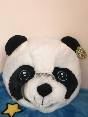 Oyuncaqlar - Azərbaycan: Eylenceli Panda yumusaq bas maskasi. Yenidir. Keyfiyyetine soz ola bil
