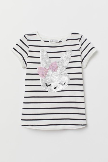 Детские топы и рубашки в Кыргызстан: H&M футболка, новая, размер: 6-8 и 8-10лет