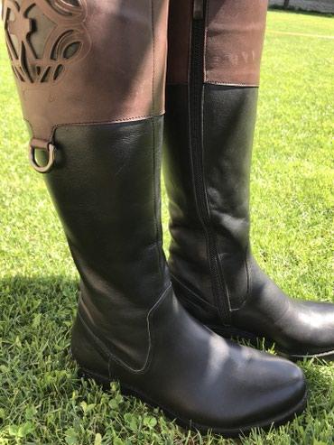 кожаная куртка мужская купить в Кыргызстан: Новые Кожаные сапоги еврозима, размер 36. Привозили с Турции для себя