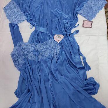 Женская одежда - Кыргызстан: Корейский комплект Пеньюар с халатом цены по размером,есть атласный