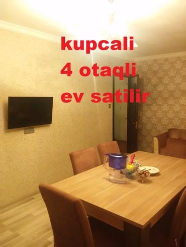 Tecili 4 otaqli kupcali orta temirli ev satilir. в Bakı