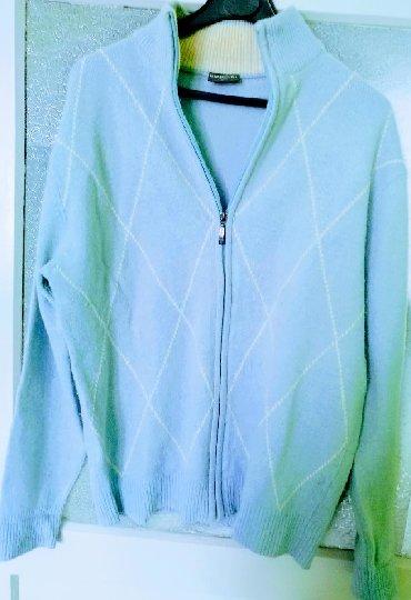 Muška odeća | Bor: Plavi dzemper/bluza Biaggini na zakopcavanje, odlican mekani pamucni