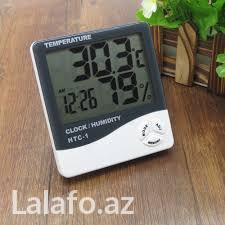 Bakı şəhərində Nemiwliy(rutubət),dərəcə(temperatura) ölçən və sahat göstərən 3 in 1
