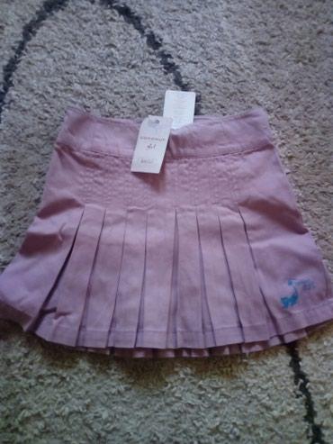 Suknja predivna nova. velicina 128,pamuk 100% ima gumu za podesavanje - Pancevo