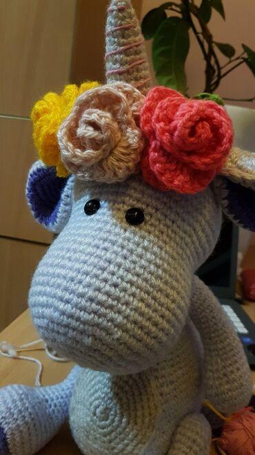 Dinocorn Crochet toy. Игругка крючком Динокорн