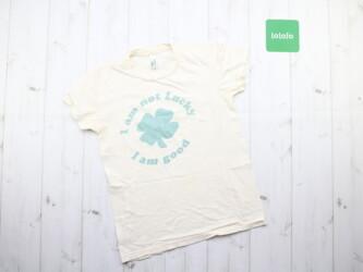 Женская футболка с принтом Sustainable edition, M Длина:56 см Пог: 41