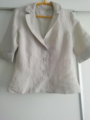 Sako i pantalone, veličina 38, kombinacija lana i pamuka, odličan