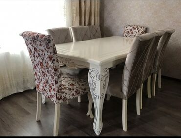 Kafe ucun stol stul satilir - Азербайджан: Teze gözel görünuşlü stol stul  stol + 8 stul