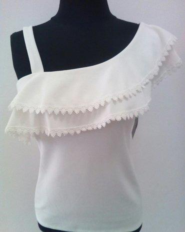 Nova bela bluza, univerzalna velicina