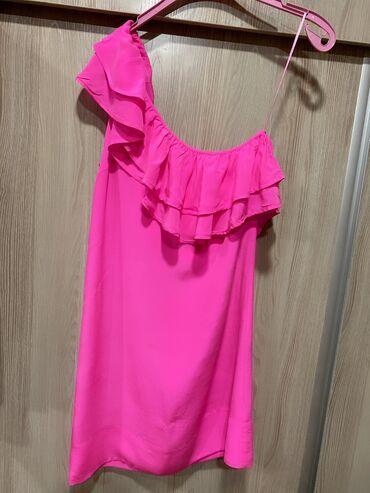 Платье topshop короткое 100% шёлк в идеальном состоянии . размер s-