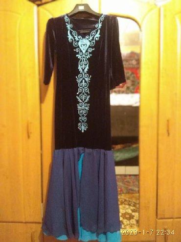 бу вечернее платье размер 46 в Кыргызстан: Продаю Бархотное платье в национальном стиле. Размер