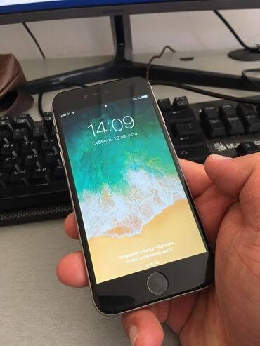 touch 6 в Кыргызстан: Б/У iPhone 6 64 ГБ Серый (Space Gray)