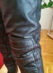 Moto pantalone zastitne prava koza nenosene,konf. Br 52 muski. Moze i  - Obrenovac