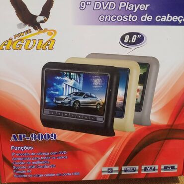 диски на авто в Кыргызстан: Портативный dvd плеер на подголовник в авто новый в комплекте диск с