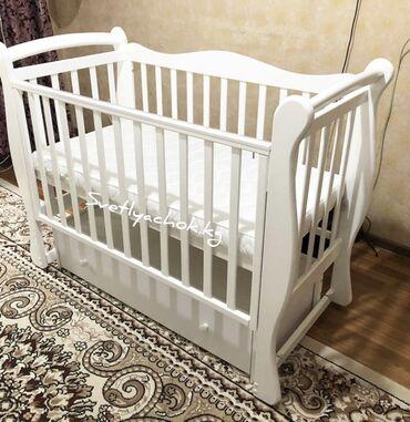 снегокат производства россия в Кыргызстан: Продаётся кровать детская, материал- дерево, производство Россия, с
