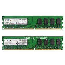 2 τεμαχια τον 2x2gb 4gb pc2-6400u 800mhz 240pin desktop ddr2 σε Pella