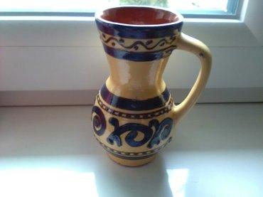 Prelepa keramička vaza za etno uređenje prostora , visina 15 cm, - Pozarevac