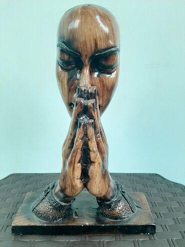 Əl işi dua edir Xalqımıza (taxta) Suvenir