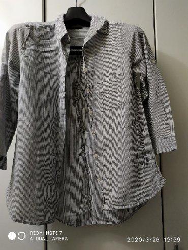 блузки с коротким рукавом в Кыргызстан: Продаю шикарную рубашку, рукав 3/4. Производство Турция, размер s