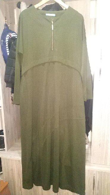 хиджаб женский в Кыргызстан: Хиджаб,мусульманское платье цвет хаки осень-весна,состояние
