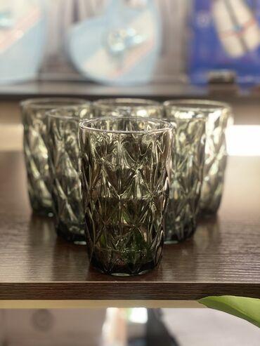 Стаканы - Кыргызстан: Новинки!!! Стаканы стеклянные цветные в разных расцветках!!! Цена за