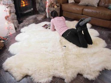 Коврик на пол из натуральной овчины,размер 180х200 см.Мягко и уютно. в Бишкек